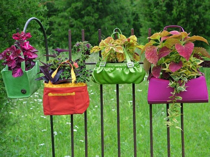 Tote Bag Plant Holders