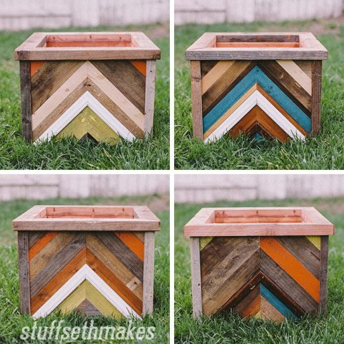 Chevron Planter Box
