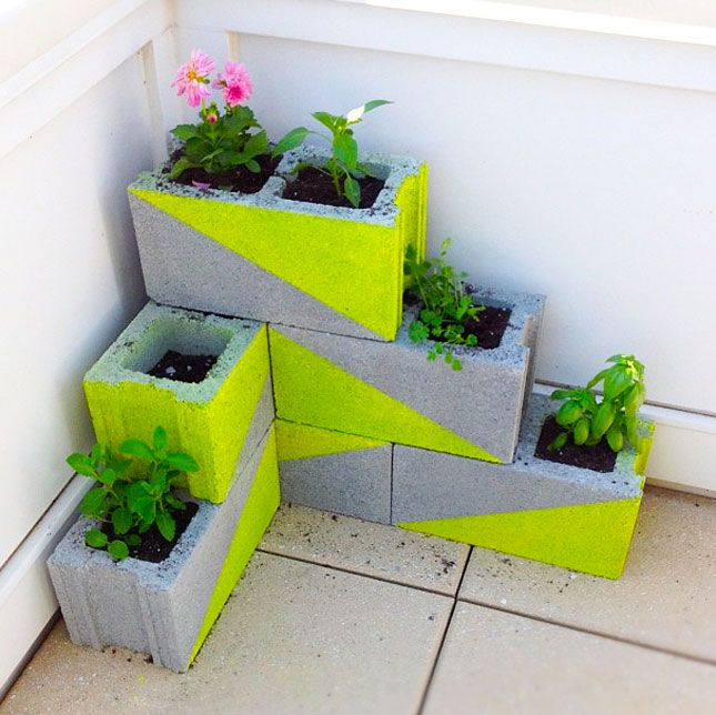 Neon Concrete Blocks