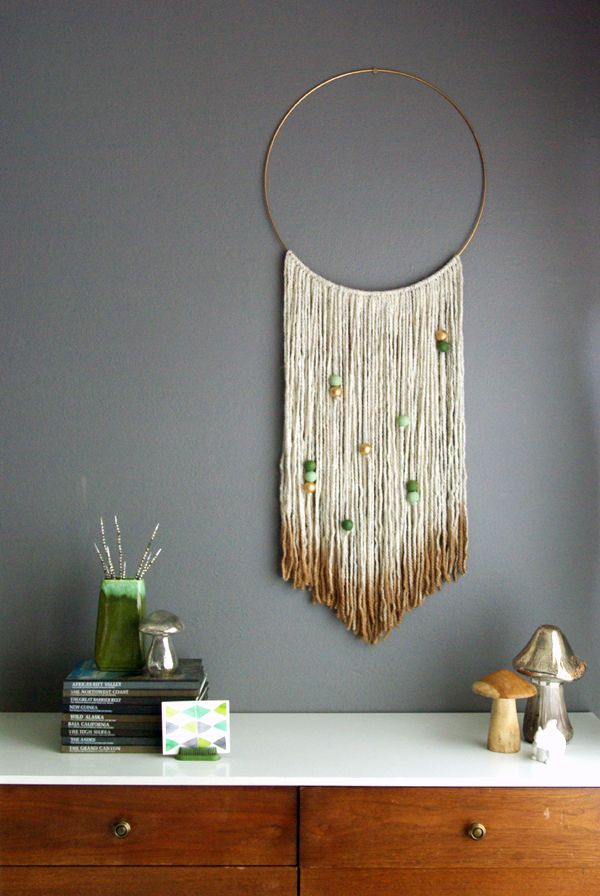 Gold Dipped Yarn Hanging